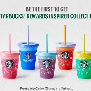 Starbucks COLOR CHANGING Reusable Grande 16 oz